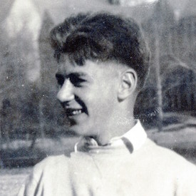 George Allingham pictured at the University of Notre Dame, c. 1933