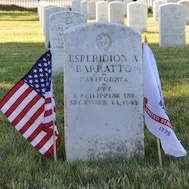 Esperidion A. Barratto's grave marker at San Francisco National Cemetery in California, July 13, 2017. Courtesy of Cathy Gorn.