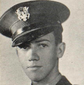 Gordon in uniform for his senior picture, Hoover High School Yearbook, 1939. Hoover High School.