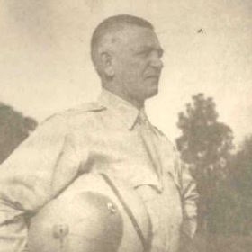 Photograph of Charles Leinbach at Fort Stotsenburg in the Philippines, August 1941. National Archives and Records Administration.