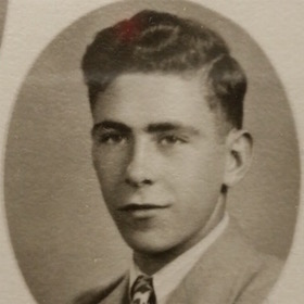 Norman J. Stewart's senior picture from Farmington High School, 1943.
